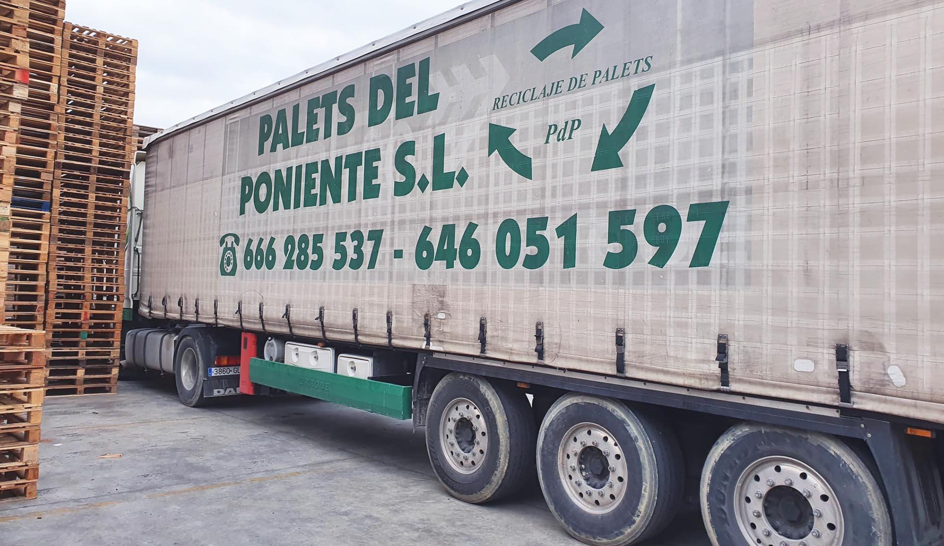 camion palets del poniente
